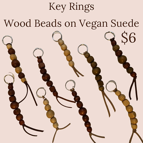 Key rings on vegan suede