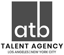 ATB Talent Agency LA and NY Logo Graysca