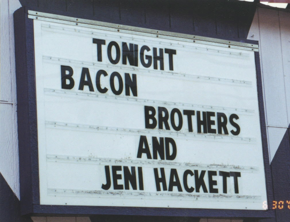 Opening for the Bacon Brothers