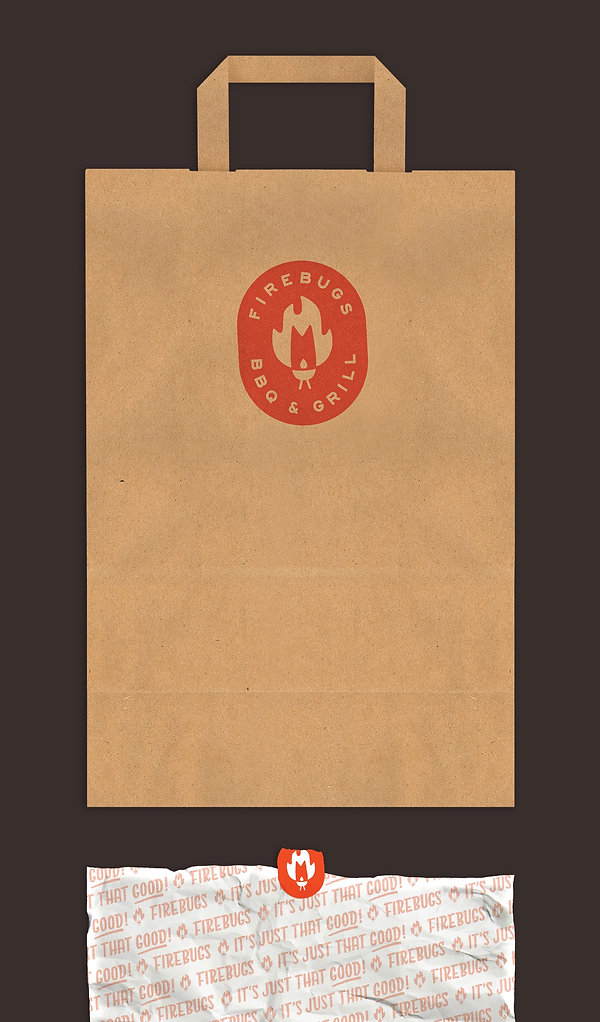 Firebugs Barbecue Packaging - Bag and Wrapper