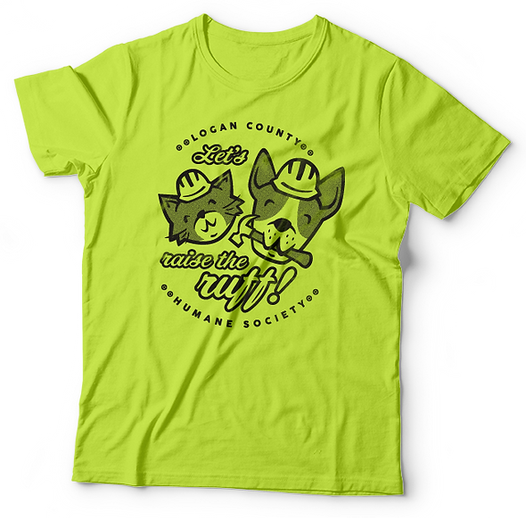 fundraiser Tee Shirt with cat and dog