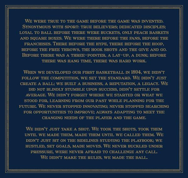 Spalding 125th anniversary monologue