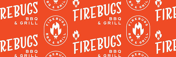 Firebugs Barbecue Pattern - Two Versions of Logo