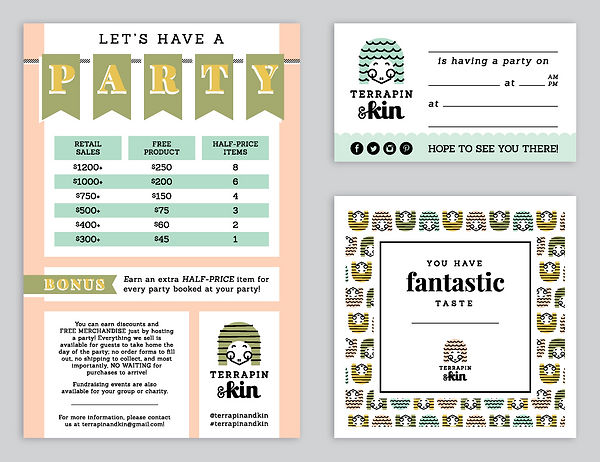 Terrapin & Kin party cards