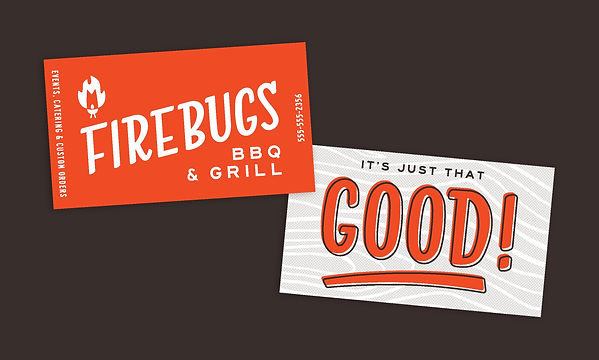 Firebugs Barbecue Business Cards - Front and Back