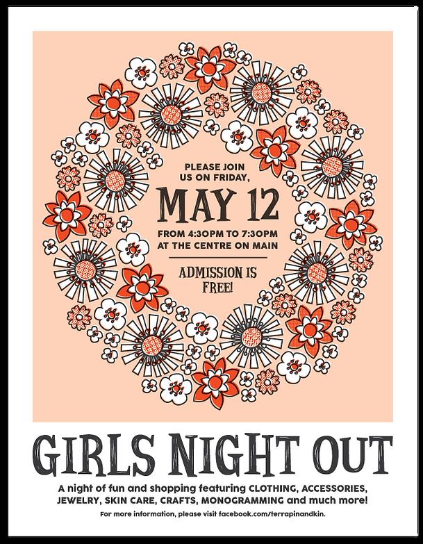 Terrapin & Kin Girls Night Out Poster