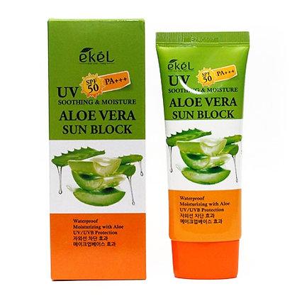 Солнцезащитный крем с экстрактом Алоэ - EKEL Aloe Vera Sun Block SPF50/PA+++
