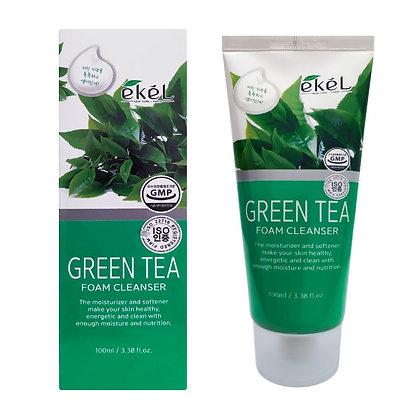 Пенка для умывания с экстрактом зеленого чая EKEL Green Tea Foam Cleanser 100мл