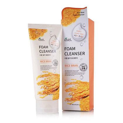 Пенка для умывания с экстрактом коричневого риса - EKEL Rice Bran Foam Cleanser