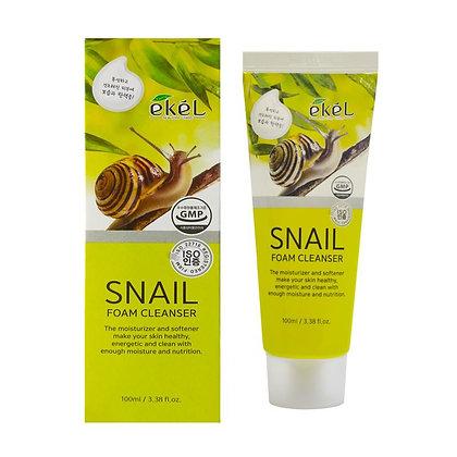 Пенка для умывания с муцином улитки - EKEL Snail Foam Cleanser 100 ml