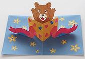 ペーパークラフトBaby Bear Box