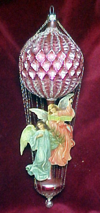 #5511-002 - Wire Wrapped Angel Ballon, Pink