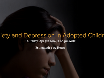 Anxiety and Depression in Adopted Children