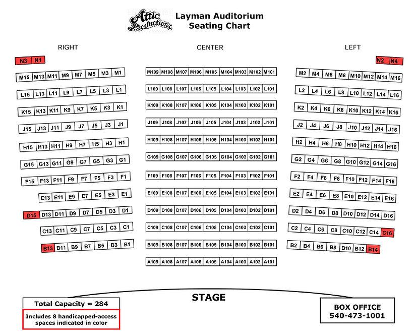 Layman Auditorium Seating Chart
