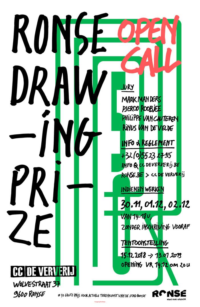 Ronse Drawing Prize 2018 - geselecteerd!