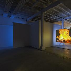 Installation view, northeast corner of gallery.