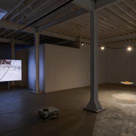 Installation view, northwest corner of gallery.