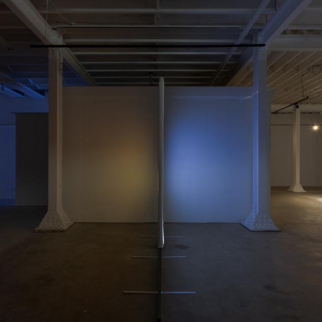 Installation view, exhibition entrance .