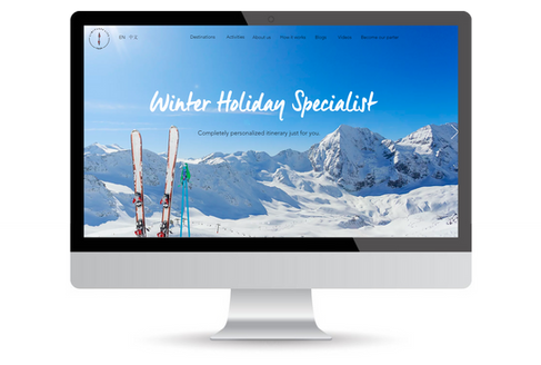 wix example design for travel company.pn