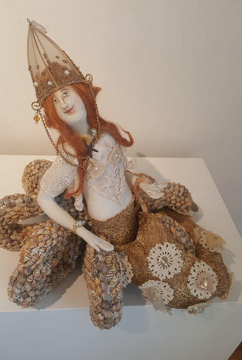 "OOAK Fiber Art Mermaid ""Jewel of the Sea"" Artist Katie Gardenia"