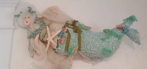 "OOAK fiber art""Rosie Mermaid"" artist Katie Gardenia"