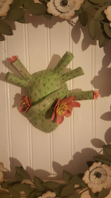 """OOAKCOCO Mask """"CORAZON"""" pink flowers Artist Katie Gardenia"""