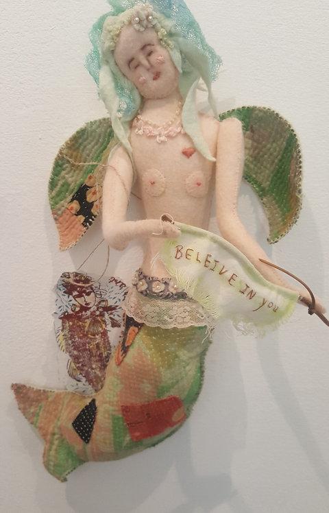 """OOAK Fiber """"Healing Hearts Mermaid"""" Artist Katie Gardenia"""