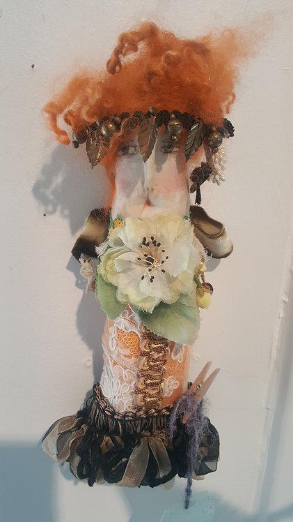 "OOAK Story People ""Samone"" fiber art doll Artist Katie Gardenia"