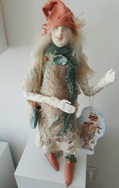 "OOAK Fiber Art Doll ""Besty"" Artist Katie Gardenia"