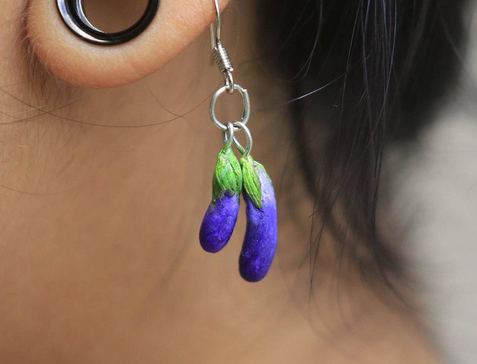 Bringelle earrings