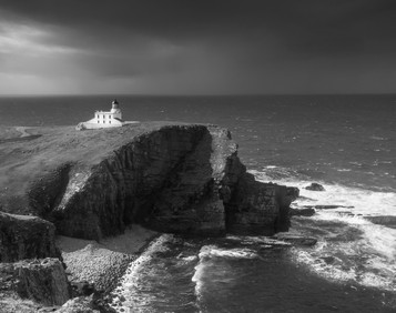 'Storm Approaching Stoer Lighthouse' by Alan Chowney ( 9 marks )