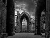 'Melrose Abbey' by John Knipe ( 10 marks )