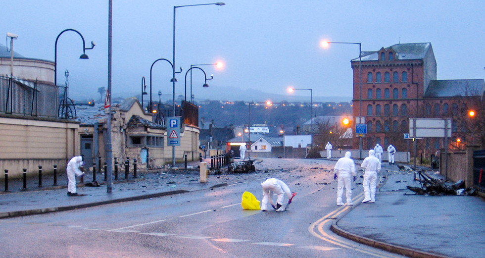 PDI - Newry Courthouse Car Bomb by Jim Hunter (9 marks)