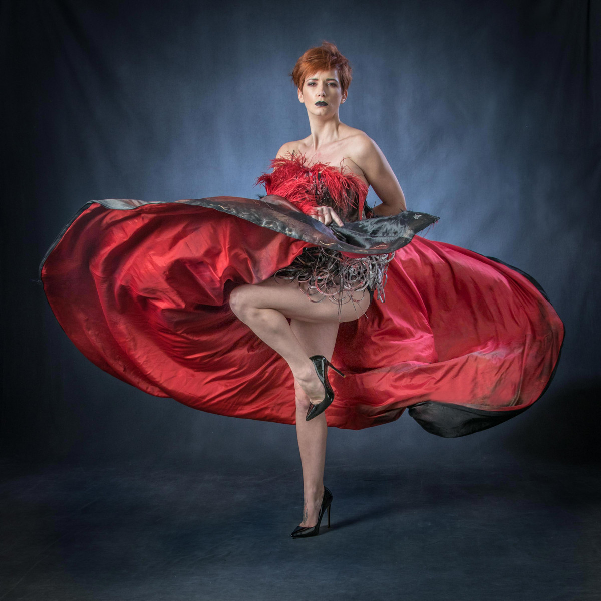 COLOUR - Red Dress by Frances Price (11 marks)