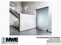 Floor Mounted Sliding Door Hardware - Modern Barn Door Hardware - Miami - Palm Beach - New York - Ft. Lauderdale - South Florida