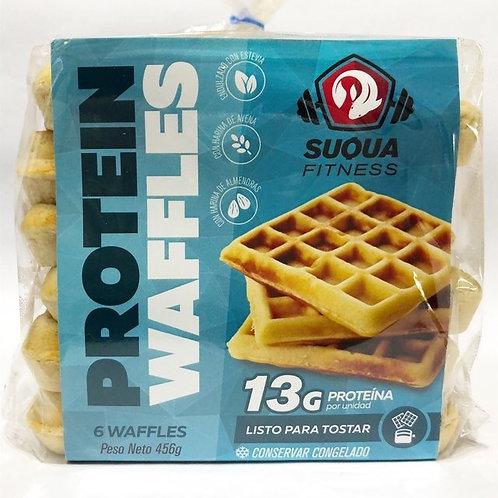 Waffles proteicos de avena - Suqua 6 u.