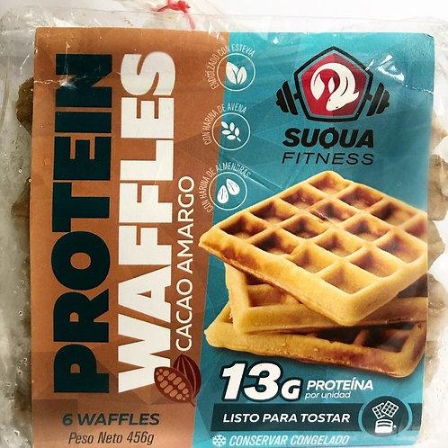 Waffles proteicos de avena y cacao amargo - Suqua 6 u.