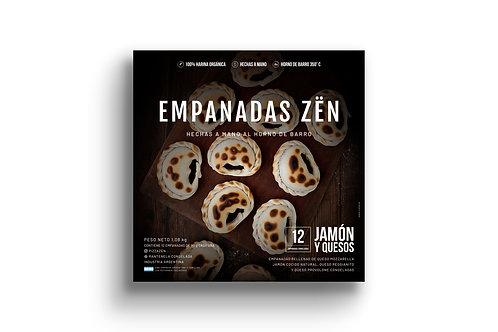 Empanadas de Jamón y Queso - 12 u. Pizza Zën