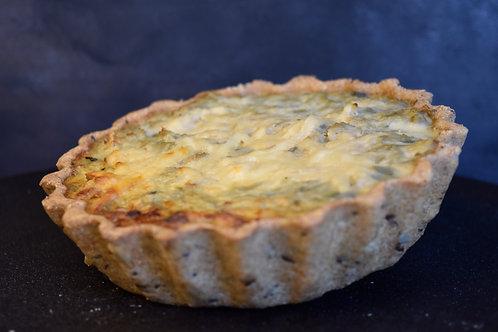 Tarta Suez de coliflor y queso sardo Piso Uno