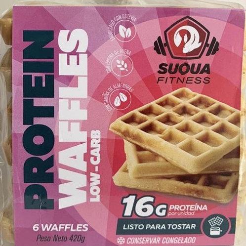 Waffles Low Carb proteicos de avena - Suqua 6 u.