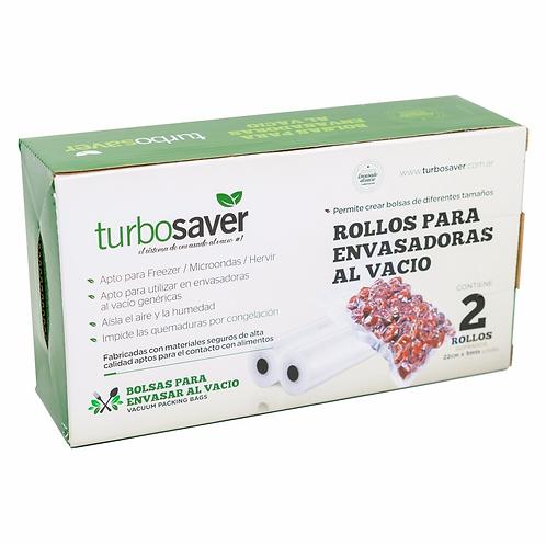2 Rollos para envasadora al vacío (22cm x 5m) - TurboSaver