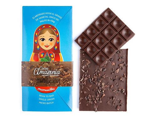 Tableta Dark Milk 65% Cacao con Nibs de cacao Mamuschka