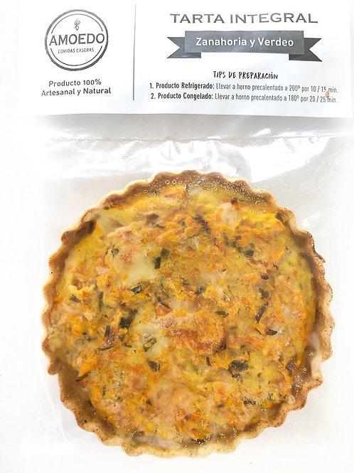 Tarta Integral de Zanahoria y Verdeo Amoedo