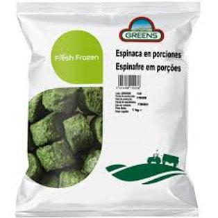 Espinaca en porciones Greens 1 Kg