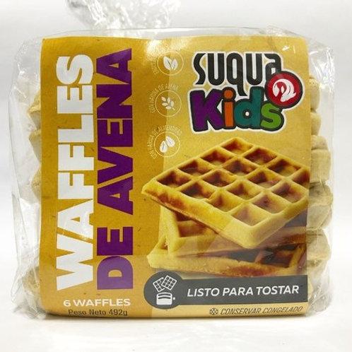 Waffles de Avena KIDS - Suqua 6 u.