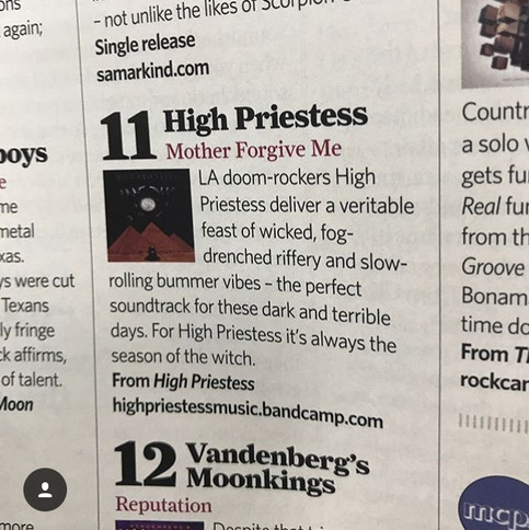 High Priestess in Classic Rock Magazine