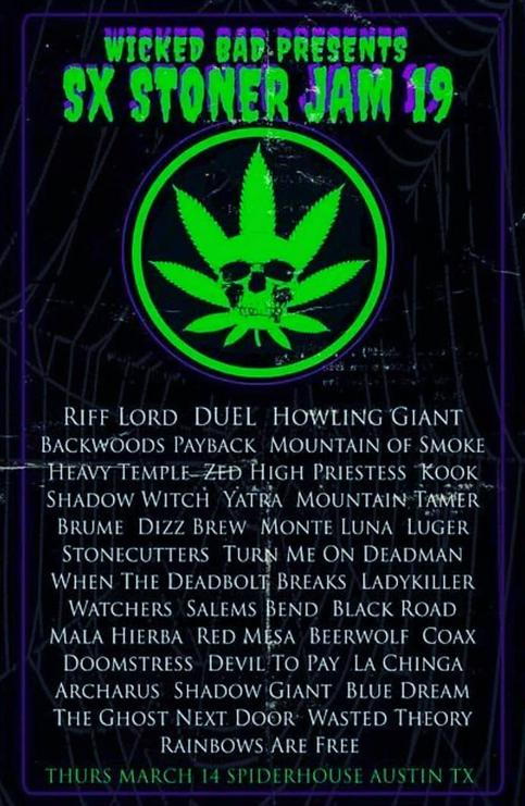 High Priestess to play SX Stoner Jam '19 in Austin TX