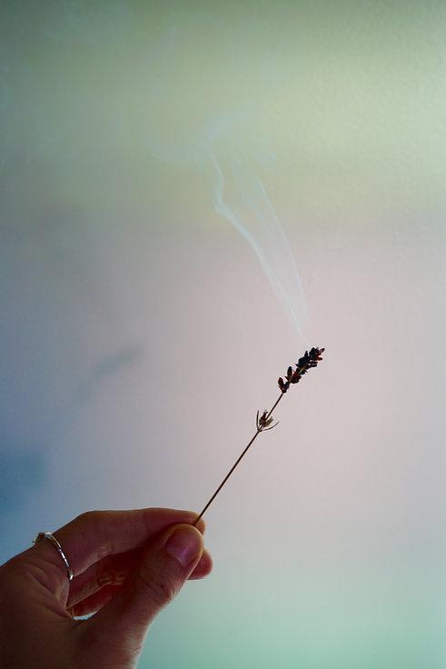 lavender burning, Reiki Knoxville