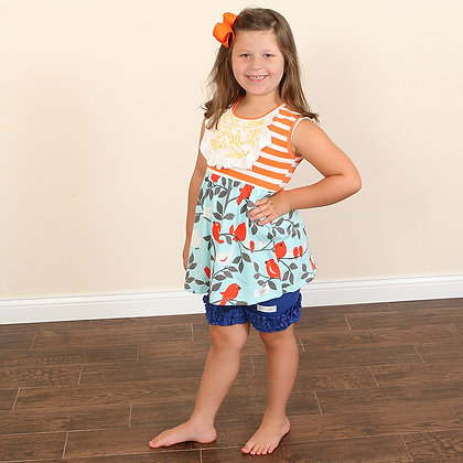 Birds Of A Feather Ruffle Outfit