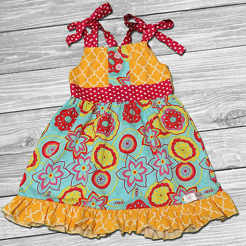 Sunshine Party Ruffle Dress
